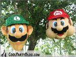 How to make Luigi and Mario pinatas