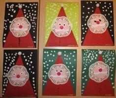A fun Santa craft with several basic shapes. Ho ho ho!