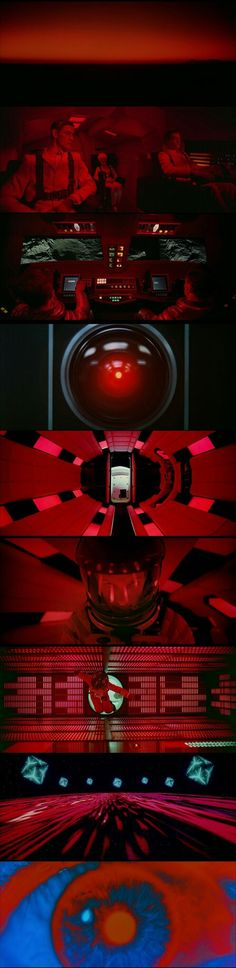 2001:A Space Odyssey (1968) Director : Stanley Kubrick Cinematography by Geoffrey Unsworth.