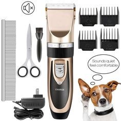 792b43031 US $17.09 10% OFF|US/EU Electrical Pet Dog Hair Trimmer Professional  Clipper Grooming Tool Rechargeable Cat Shaver Hair Cutter Dog Haircut  Machine-in Dog ...