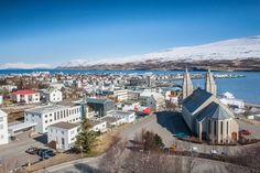 Akureyri, #Iceland - Scenic, friendly town. Great starting point for a trip down either coast back to Reykjavik.