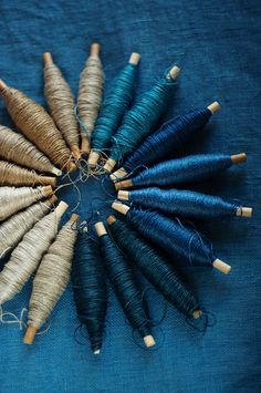 Blue | Blau | Bleu | Azul | Blå | Azul | 蓝色 | Color | Form | Texture | Swedish linen yarn More