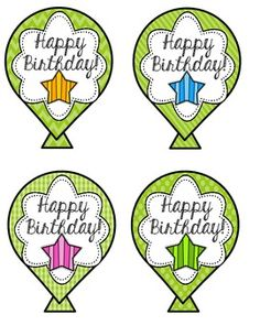 BIRTHDAY BALLOONS CRAFT FREEBIE - TeachersPayTeachers.com