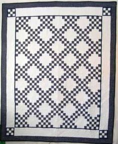 Double Irish Chain Quilt pattern - I give Quilting Lessons on how to make a Double Irish Chain Quilt