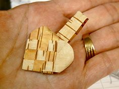 Danish woven heart made from real birch Bark | Pam Harris | Flickr