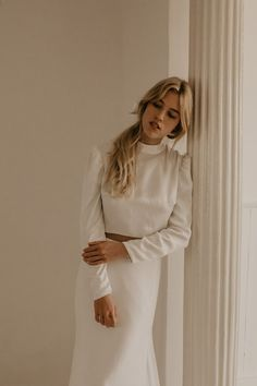 This is a TEMPLE by Bo & Luca online exclusive - now available to shop on our online boutique Bridal Skirts, Wedding Dresses, Bridal Separates, Saint Tropez, Bridal Looks, Clothing Items, Online Boutiques, Long Sleeve Tops, Cold Shoulder Dress