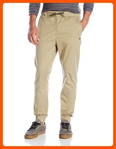 LRG Men's Gamechanger Stretch Cotton Twill Jogger Pant, Graphite Gray The gamechanger 2 jogger pant is constructed of cotton twill with stretch featuring a drawstring waist, dual hand pockets, logo detail on left leg and dual rear pockets. Khaki Joggers, Jogger Pants, Khaki Pants, British Khaki, Drawstring Waist, Fashion Brands, Graphite, Amazon, Casual