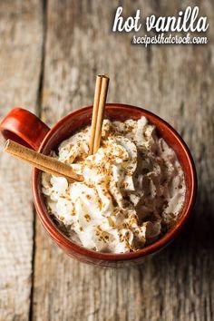 Hot Vanilla - Delicious warm beverage recipe for the crock pot! Hot Chocolate Alternative for Winter!