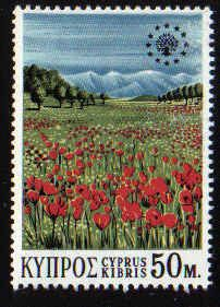Cyprus Stamps SG 349 1970 50 Mils - MINT