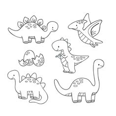 Dinosaur Coloring Pages, Colouring Pages, Coloring Sheets, Doodle Drawings, Cartoon Drawings, Easy Drawings, Cartoon Drawing For Kids, Cute Drawings For Kids, Cartoon Dinosaur