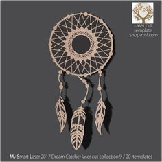 Detailed dream catcher template for laser cutting. Dream Catcher Vector, Hoop Dreams, Dreams And Nightmares, Product Ideas, Dream Catchers, Mandala Design, Vector Pattern, Laser Cutting, Mother Day Gifts