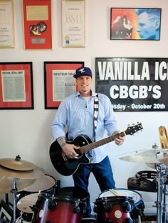 Tour Vanilla Ice's Personal Office and Music Room >> http://www.diynetwork.com/experts-and-hosts/behind-the-scenes-vanilla-icersquos-personal-office-and-music-room/pictures/index.html?soc=pinterest