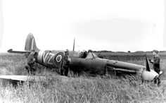 An RAF Spitfire shot down somewhere in France