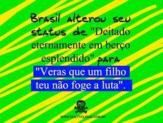 VERÁS QUE UM FILHO TEU NÃO FOGE A LUTA. #MudaBrasil  #paz #vemprarua