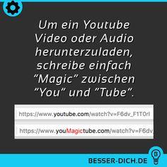 Um ein Youtube Video oder Audio herunterzuladen...