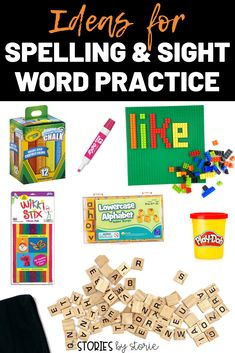 Are you looking for new ways to practice spelling and sight words? Here are several activities you can try in the classroom or at home with your kids. Your kids will have so much fun practicing their words!