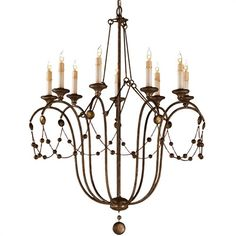 Arteriors Devon Chandelier on sale. The Devon Chandelier from Arteriors features old world charm with its silver leaf finish and dripping wax candle sleeves. Antique Chandelier, Beaded Chandelier, Chandelier Lighting, House Lighting, Entry Chandelier, Lantern Chandelier, Pendant Lights, Kitchen Lighting, Devon