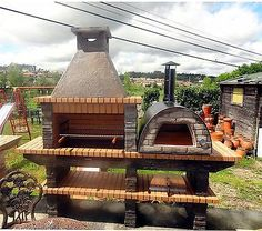 Stone Barbecue with wood fired Pizza Oven in Home, Furniture & DIY, Other Home, Furniture & DIY | eBay