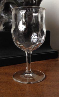 Webb Corbett Arts and Crafts wine glass, late Victorian early twentieth century Art Nouveau
