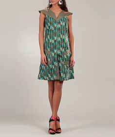 Green Brique Valerie Dress from Pickles - up to 50% off RRP
