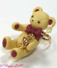 Angelic Pretty: Present Bear Ring in wine