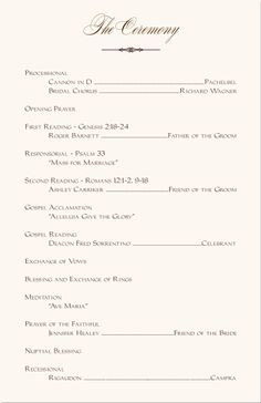 wedding programs wedding program wording program sles program