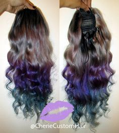 Balayage Dip Dye 8A Remy Human Hair by CherieHairExtensions   Balayage Dip Dye 8A Remy Human Hair Drawstring Ponytail Hair Extension Ombre  :heart_eyes::heart_eyes:   #purplehair #bluehair #greyhair #grayhair #greyhairdontcare #hairextensions #haireonfleek #halloweenhair #customunit #instagood #instadaily #hairofinstagram #balayagehair #humanhair #ombrehair #dipdyehair  https://www.etsy.com/uk/shop/CherieHairExtensions 😍😍