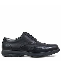 Nunn Bush Men's Maclin Street Medium/Wide Plain Toe Oxford Shoes (Black Leather)