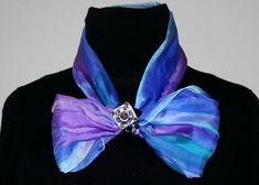 Unique hand made silk scarf accessories, scarf bracelets and scarf rings