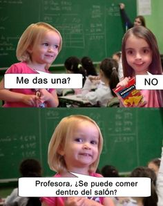 Read 2 from the story Memes sobre la escuela by with reads. Memes Humor, New Memes, Funny Spanish Memes, Spanish Humor, Funny Blogs, Funny Photos, Funny Images, Mexican Memes, Bastille