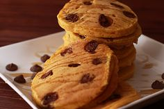 pumpkin chocolate chip pancakes. this is why i love breakfast