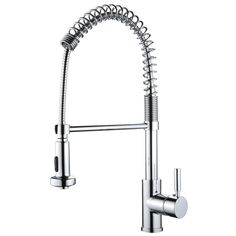 250, Miseno MK281-PC Polished Chrome Cardini Commercial Style Pre-Rinse Kitchen Faucet - FaucetDirect.com * great reviews