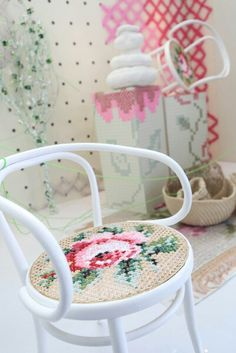 Cross stich chair