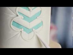 Punched Fondant with Chevron Pattern Inside