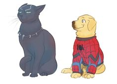"""""""Spiderpup?"""" """"S-spiderdog."""" """"Not in that onesie."""" >>>""""I'm Clint."""" """"I do not care, hawk."""""""