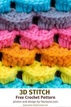Learn A New Crochet Stitch D Crochet Stitch Pattern * lernen sie ein neues häkelstich-d-häkelstichmuster * apprendre un nouveau motif de point de crochet d crochet stitch Stitch Crochet, Crochet Motifs, Crochet Stitches Patterns, Doily Patterns, Knitting Stitches, Stitch Patterns, Knitting Patterns, Manta Crochet, Crochet Baby