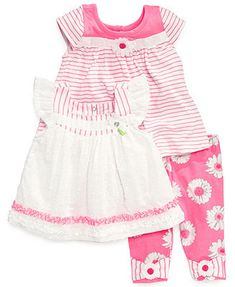 Nannette Baby Girls' 3-Piece Tunics & Leggings Set
