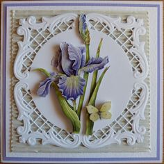 Flower Cards, Paper Flowers, Marianne Design Cards, Card Companies, Martha Stewart, Embossed Cards, 3d Cards, Die Cut Cards, Card Making Techniques