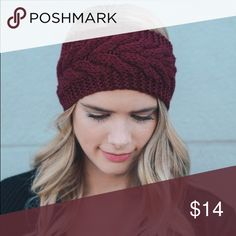 Maroon Cable Knit Headband Beautiful maroon cable knit headband. It will help keep your head warm and cozy during the fall and winter! I am firm on the price but don't hesitate to save with my bundle option! I now have a gray one available too! Forever Moon  Accessories Hats
