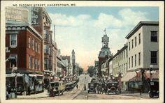 Hagerstown MD No Patomic Street Scene c1910 Postcard