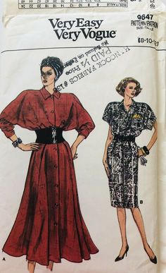 Skirt Patterns Sewing, Vogue Sewing Patterns, Mccalls Patterns, Cool Patterns, Vintage Sewing Patterns, Miss Dress, Jacket Pattern, Vintage Vogue, Shoulder Pads