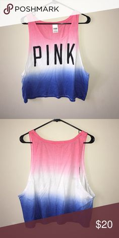 PINK crop top Red, white, and blue crop top from PINK PINK Victoria's Secret Tops Crop Tops