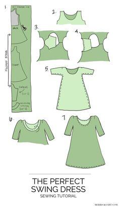 Merrick's Art | DIY Olive Swing Dress