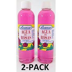 Agua De Rosas Rose Water 4 Oz 2-PACK Skin Toner Body Splash Refreshing Fragrance #Pharmark