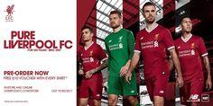 Camisas do Liverpool 2017-2018 New Balance 125 anos