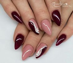 Nails almond french colour 58 Ideas for 2019 Fabulous Nails, Perfect Nails, Gorgeous Nails, Silver Nails, Pink Nails, Cute Acrylic Nails, Cute Nails, Pretty Nail Art, Nagel Gel