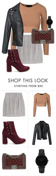 """""""Untitled #1149"""" by star-lightt ❤ liked on Polyvore featuring Balmain, Chanel and CLUSE"""