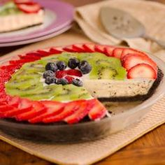 Glazed Fruit & Vanilla Ice Cream Tart