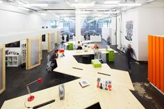 Employees at the Skullcandy International Office in Zurich, Switzerland can reconfigure their desks to work individually or collaboratively. Description from chicagocreativespace.com. I searched for this on bing.com/images