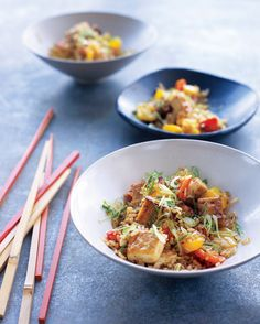 Brown Rice Stir-Fry with Flavored Tofu and Vegetables | Martha Stewart ...
